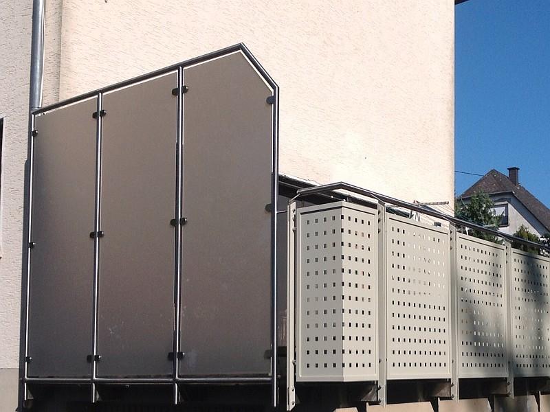 metallbau kliewer balkongel nder sichtschutz. Black Bedroom Furniture Sets. Home Design Ideas